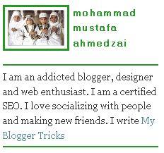 """Pimping"" your Blogger profile   Mohammad Mustafa Ahmedzai for My Blogger Tricks"