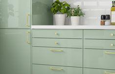 Ikea Kitchen, Kitchen Cabinets, Home Kitchens, Home Office, Kitchen Remodel, Dresser, New Homes, Room, House