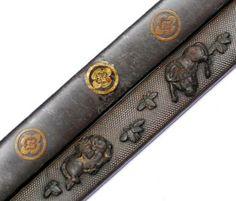 JAPANESE KOGAI | ... JAPANESE KOZUKA tsuba koshirae katana sword fitting kojiri kogai