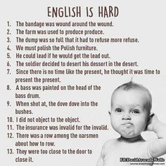 Not always an easy language to teach!