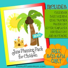 June Children Planning Pack free for limited time