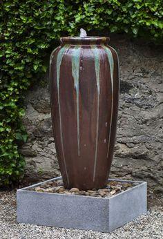 Lago Jar Glazed Fountain by Campania International