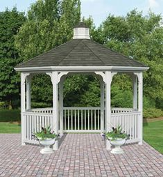 One of the most enjoyable parts of a building a DIY shed design is the planning part. Screened Gazebo, Backyard Gazebo, Backyard Sheds, Pergola With Roof, Garden Gazebo, Shed Design, Balcony Design, Roof Design, Cool Sheds