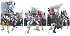 Clone Commanders Triptych Comic Art