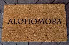 Alohomora Welcome Mat  Harry Potter by WhaylasNerdom on Etsy