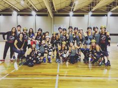 We lost big time! But we had so much fun on the track and are very happy that this was our first game playing together!  Thank you Roller derby Porto for having us  #porto #portugal #rollerderbyporto #bout #rollerderby by oilcityrollers