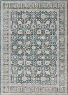 Joanna Gaines Rugs of Magnolia Home Rug Ella Rose Collection Dk Blue / Dk Blue available at Blue Hand Home.