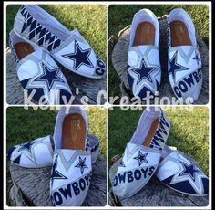 Cowboys Custom Painted Toms  https://www.facebook.com/KellysCreations