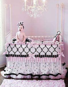 Nursery idea. I know you already chose your colors Amy, but how fun and classy!