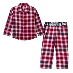Timberland Kids Red Check Pyjamas Set