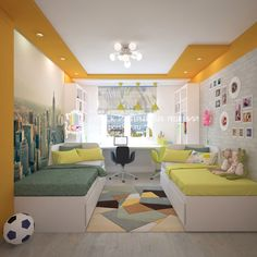 Pictures on request children's room for … – Designs Ideas Cool Kids Bedrooms, Kids Bedroom Designs, Kids Room Design, Boy And Girl Shared Bedroom, Girl Room, Baby Room Decor, Bedroom Decor, Bunk Beds With Storage, Unique House Design