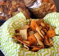 There's sure to be something for everyone in this snack mix. From cheesy crackers to cheese filled crackers, this seasoned up mix will please everyone. This makes a HUGE batch, too.