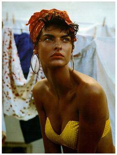 STEVEN MEISEL - LINDA EVANGELISTA Vogue Italia (febrero 1989)