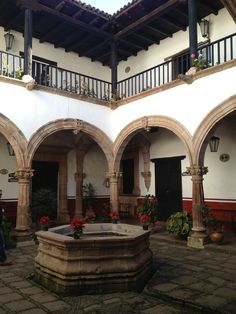 Casa de los Once Patios. Pátzcuaro, Michoacan. I pinned this because its similar to my grandparents home. Rancho Lopez in La Piedad.... they were one of the wealthiest families there.