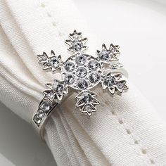 Diamante Snowflake Napkin Ring