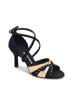 Eckse 200001 Adeline-S 001 / V-Round-Swarovski Latin Dance Shoes, Ballroom Dance Shoes, Dancing Shoes, Shoe Boots, Shoes Sandals, Dress Shoes, Salsa Shoes, Tango Shoes, Open Toe Shoes