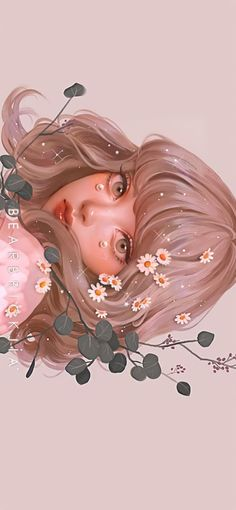 Girly Drawings, Anime Girl Drawings, Cool Art Drawings, Anime Girl Cute, Anime Art Girl, Pretty Art, Cute Art, Digital Art Girl, Cartoon Art Styles