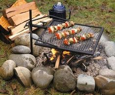 Adjust-a-Grill Portable Campfire Swivel Grill - For Grilling While Camping Campfire Grill, Fire Pit Grill, Pit Bbq, Campfire Cooking Grate, Campfire Games, Barbecue Grill, Grilling, Bar Patio, Fire Pit Accessories