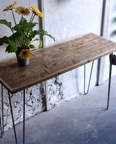 square wood table metal legs - google search | dinning room