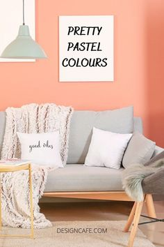 Pastel wall colours: make a bold statement or paint a balanced picture with pastel wall colours. Check out these eight beautiful pastel colour schemes for your home's interiors. // pastel wall colours // pastel wall colours bedrooms // pastel wall colours living room // pastel pink living room wall colours // pastel color interior design // pastel wall paint ideas // pastel living room ideas color palettes #pastel #wall #colors #livingroom #bedroom #pastelcolors #paselwallcolors #pastelpinkcolor Bedroom Wall Paint Colors, Room Wall Painting, Pastel Living Room, Living Room Colors, Pastel Walls, Pink Walls, Wall Paint Colour Combination, Blue And Pink Bedroom, Paint For Kitchen Walls