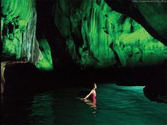 Morakot cave, Koh Lanta, Thailand. Have to swim 230 feet in complete darkness to reach the hidden beach.