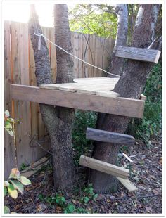 6a00d83453987169e2012875a563c8970c-pi 1,614×2,126 pixels Easy Diy Treehouse, Backyard Treehouse, Treehouse Ideas, Backyard Fort, Backyard For Kids, Building A Treehouse, Diy Tree House, Simple Tree House, Tree Houses