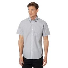 Thomas Nash Grey circle short sleeved shirt- at Debenhams.com