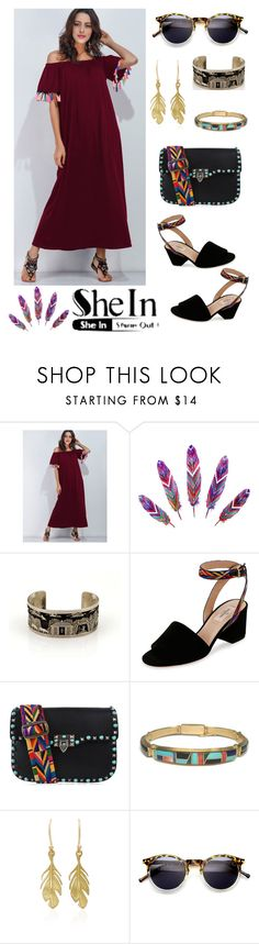 """""""Burgundy Vibes"""" by avemateiu ❤ liked on Polyvore featuring Valentino, Annette Ferdinandsen, ZeroUV, Summer, contest, MyStyle and shein"""