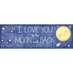 """To the Moon and Back 20"""" x 60"""" Giant Party Banner/Case of 6 Tags: To the Moon and Back; Giant Banners; Baby Shower; baby shower party ideas;baby shower giant banners;baby shower party decorations;baby shower decorations; https://www.ktsupply.com/products/32786351115/To-the-Moon-and-Back-20doublequote-x-60doublequote-Giant-Party-BannerCase-of-6.html"""