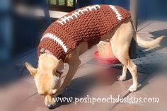 Instant Download CROCHET PATTERN Football by poshpoochdesigns