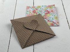 DIY Kuvert Herz (Kugelig) - YouTube Molduras Vintage, Diy Envelope, Bunny Crafts, Paper Crafts, Diy Crafts, Bff Gifts, Love Cards, Stampin Up, Christmas Crafts
