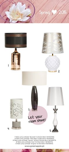 Green Apple HOME STYLE ♥ Spring 2015 #InspiringCollections #InteriorDecoration #Furniture #Portugal #Spring #TableLamps
