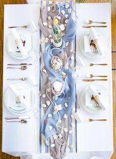 Eine liebevolle Tischdekoration, die den Gästen im Gedächtnis bleibt.