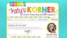 Katy's Korner | blog design