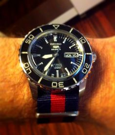 nice Seiko SNZH55 Sports 5 Diver