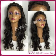 Factory Direct Sell Full Hand Silk Top Full Lace Human Hair Wigs Wave Wig Lace…
