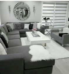 There are many elegant living room ideas that you might decide to get applied in your living room design. Because you have landed here then most probably you want Elegant living room answer. Living Room Decor Cozy, Elegant Living Room, Living Room Grey, Home Living Room, Interior Design Living Room, Living Room Furniture, Living Room Designs, Modern Living, Black White And Grey Living Room