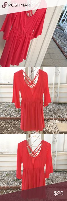 Beautiful Salmon Color Dress!🌺🌺 A cute, fun, and bright dress that is perfect with a pair of boots or some low wedges Charlotte Russe Dresses