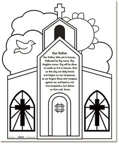 Buy Youth Kids Color Your Own Our Father Prayer Home Classroom Sunday School Religious Arts & Crafts Activity by B-Toy&Game Catholic Crafts, Catholic Kids, Church Crafts, Catholic Prayers, Catholic School, Kids Church, Church Ideas, Religion Activities, Teaching Religion