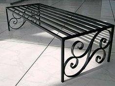 Ideas For Garden Bench Iron Iron Furniture, Steel Furniture, Metal Projects, Metal Crafts, Steel Art, Iron Table, Iron Art, Iron Decor, Wrought Iron
