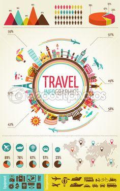 reizen infographics met gegevens pictogrammen en elementen — Stockillustratie #22670187