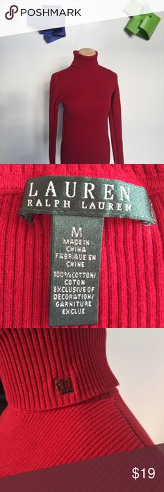 Ralph Lauren Ribbed Turtleneck Sweater Ralph Lauren's take on the essential turtleneck sweater combines a slimming, fine-ribbed silhouette with a silky, stretch infused yarn. Machine washable. Product in great condition! Ralph Lauren Sweaters Cowl & Turtlenecks