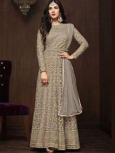 B4UFashion Present New Arrival Partywear Grey Nylon Net Anarkali Salwar Suit For Order 📲9033763613 📲07572803833   🌍🌍Worldwide Delivery🌍🌍  #anarkalisuit #anarkali #Dress #salwaarsuit #lehengacholi #lehenga #saree #indianfashion #indianwear #indianwedding #bridalfashion #bollywoodstyle #ethincfashion #fashion #sareelove #indianfashion #weddinginspiration #beautifulbride #wedding #shopping #b4ufashion #indianfashionblogger