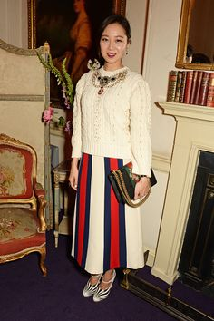 Kong Hyo Jin attends the Gucci party at 106 Piccadilly in celebration of the Gucci Cruise 2017 fashion show on June 2 2016 in London England