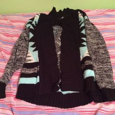Charlotte Russe blue and black sweater Never worn Charlotte Russe Sweaters