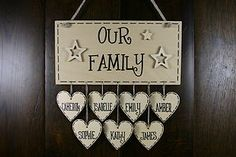 Personalised Family name New Home Birthday Housewarming Christmas gift plaque