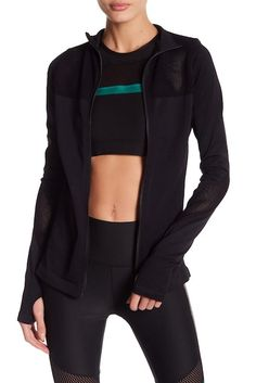 C & C California   Seamless Moto Zip-Up Top   Nordstrom Rack - Awesome zip-up top, for looking great while working out.