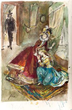Jan Marcin Szancer - Panienka z okienka, Odkrycie tajemnicy Phantom Of The Opera, Faeries, Les Oeuvres, Fairy Tales, Retro, Homeland, Inspiration, Polish, Paintings
