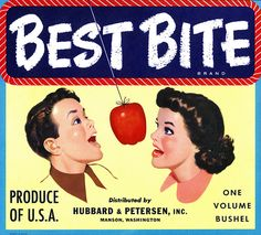 Vintage Crate Label Designs - Best Bite by Hubbard & Petersen Inc