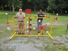 Outdoor Shooting Range, Shooting Bench, Shooting Stand, Shooting Targets, Shooting Sports, Backyard Playhouse, Backyard Games, Outdoor Games, Outdoor Fun